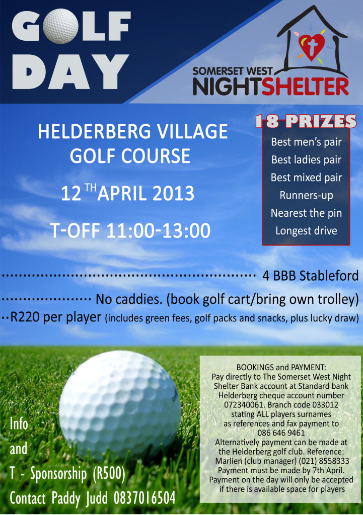 golf day poster A5