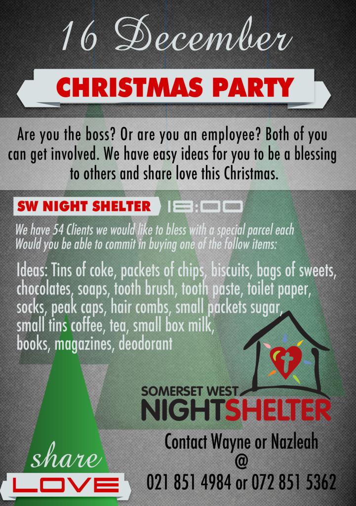 SW Night Shelter Christmas Flyer
